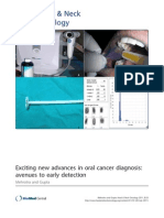 Exciting New Advances in Oral Cancer Diagnosis