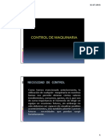 Unidad III -Control de Maquinaria y Mantenimiento