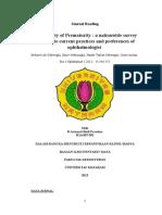 Retinophaty of Prematurity