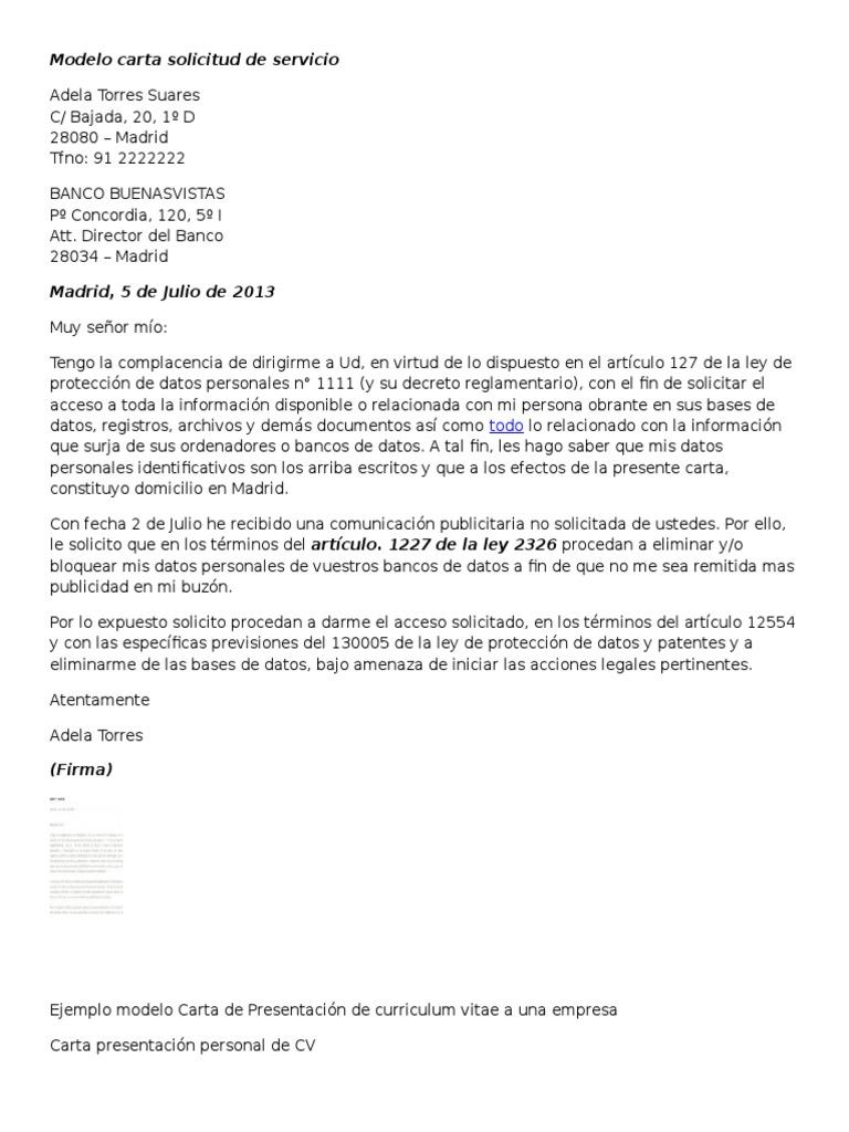 Hermosa Muestra Carta De Presentación Para Hoja De Vida Para ...