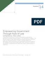 Empowering Government Through a Coercive Democracy