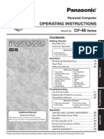 Toughbook Cf 48 Operating Instructions