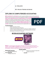 Diploma in Computerized Accounting