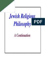 Jewish Religious Philosophy