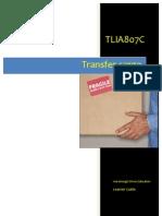 TLIA807C - Transfer Cargo - Learner Guide