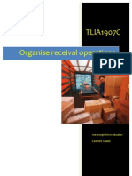 TLIA1907C - Organise Receival Operations - Learner Guide