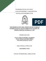 Determinacion Del Indice de Rugosidad Internacional Usando Perfilometro