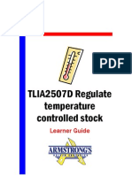 TLIA2507D - Regulate Temperature Controlled Stock - Learner Guide