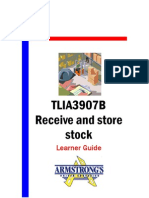 TLIA3907B - Receive and Store Stock - Learner Guide