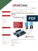 Sensor de Temperatura y Humedad DHT11 y Arduino – Alberto Jesús Cardenas Benavides