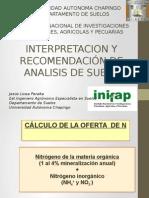 Interpretacion y Recomendaciones de analisisi de suelo