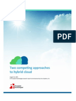 Two competing approaches to hybrid cloud