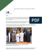 Contra el cambio climático religiosos son difusores de mensajes por el ambiente