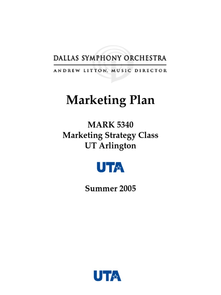 DSO Marketing Plan v8 | Strategic Management | Market