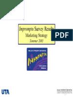 Appendix C DSO Impromptu Survey Report