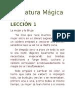 Literatura Mágica, Lección 1
