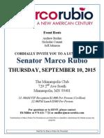 Rubio 9/10 invitation