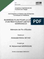 Business Plan Pour La Création d Un Restaurant Diététique a Marrakech
