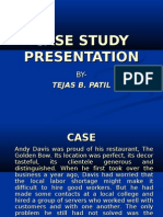 Presentation on Case Study Goal Setting by Tejas