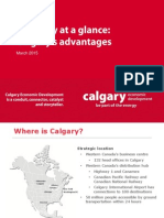 Economy at a Glance Calgary's Advantages March 2015