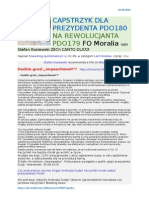 Capstrzyk dla Prezydenta PDO180 Na rewolucjanta PDO179 FO Moralia von Stefan Kosiewski ZECh CANTO DLXXX