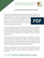 CoiNOTA PÚBLICA DE REPÚDIO E EM APOIO AOS KAIOWÁ E GUARANIab_nota Pública de Repúdio e Em Apoio Aos Kaiowá e Guarani