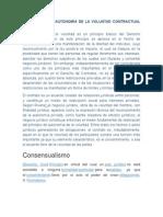 El Principio de Autonomía de La Voluntad Contractual Civil