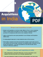 Mergers & Acquistions in India