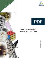 Solucionario Ensayo MT - 034 2015