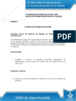 Actividad 2 Clases de Sistemas de Calidad