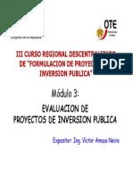 Diapositivas Del Modulo de Evaluacion de Proyectos