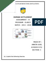 human settlement assign 4.docx