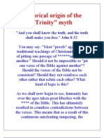 "Historical origin of the ""Trinity"" myth"