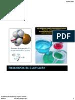 Reacc. de Sustitución Nucleofilica - Teoría