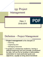 Energy Project Management-class 2
