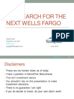 Search For Next Wells Fargo 2015 ValueX Presentation