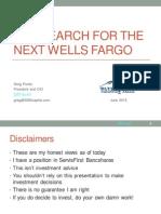 Search For Next Wells Fargo 2015 ValueX Presentation
