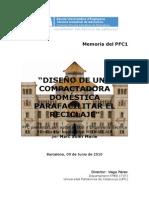 DISEÑO DE UNA  COMPACTADORA  DOMÉSTICA PARA FACILITAR EL RECICLAJE