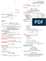 Resumen de fórmulas de Probabilidad y Estadística