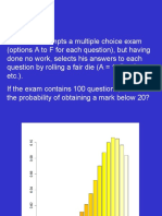 A Student Attempts a Multiple Choice Exam