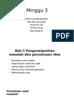 Bab 3 Pengenalpastian Masalah Dan Pencetusan Idea