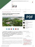 Comuna 8_ Políticas Publicas de La Ciudad Global Para La Zona Sur - La Barraca