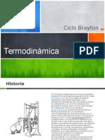 Ciclo BraytonEn el presente informe, se detalla brevemente el principio de funcionamiento del ciclo termodinámico de turbinas de gas o más conocido como Ciclo Brayton. Para realizar dicho trabajo, nos realizamos las siguientes preguntas, ¿Qué es?, ¿Cómo fueron sus orígenes?, ¿Cómo fue su evolución a lo largo del tiempo?, ¿Qué componentes involucra el ciclo?, ¿Qué objetivo persigue?, ¿Cuál es su campo de aplicación?, ¿Cómo funciona?, Diferencias entre modelos, ¿Qué rendimiento se obtiene?. Primeramente se presentará como introducción sus orígenes y evolución, luego entablaremos el desarrollo del marco teórico, en el cual se establece la diferencia entre un ciclo real y uno ideal para poder ingresar con mayor facilidad al tópico en sí, su funcionamiento y aplicaciones en la vida cotidiana, variaciones entre los distintos modelos teóricos, como así también su eficiencia.