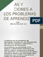 Causas y Soluciones a Los Problemas de Aprendizaje