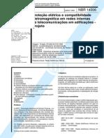 NBR 14306 - Proteção elétrica e compatibilidade eletromagnética em redes internas de telecomunicações em edificações - Pr-1.pdf