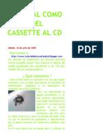 Tutorial Como Pasar Del Cassette Al CD