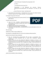 Lista de Fotocopias de Documentos Para Comprobación Presupuestal 2013