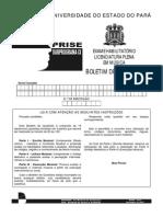Prova Licenciatura Em Msica PRISE