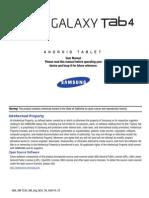 GEN SM-T230 Galaxy Tab 4 KK English User Manual NC4 F3