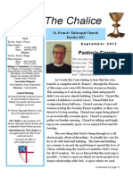 The Chalice - September 2015 - St. Francis' Episcopal Church in Eureka, MO